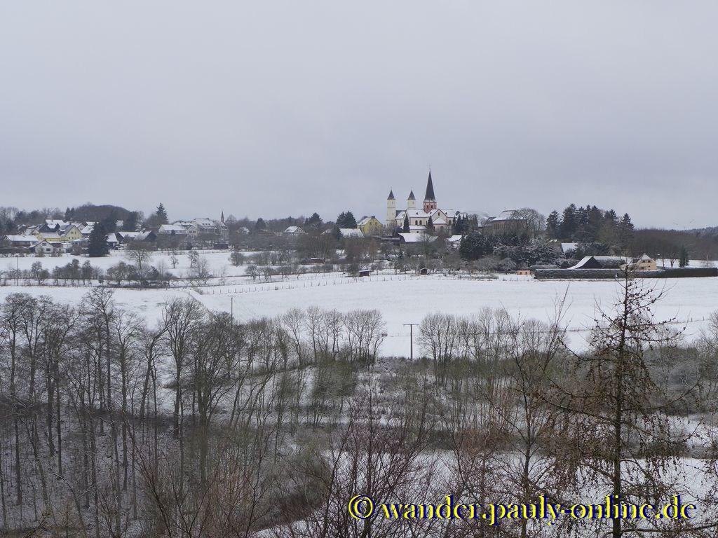 Blick auf Kloster Steinfeld
