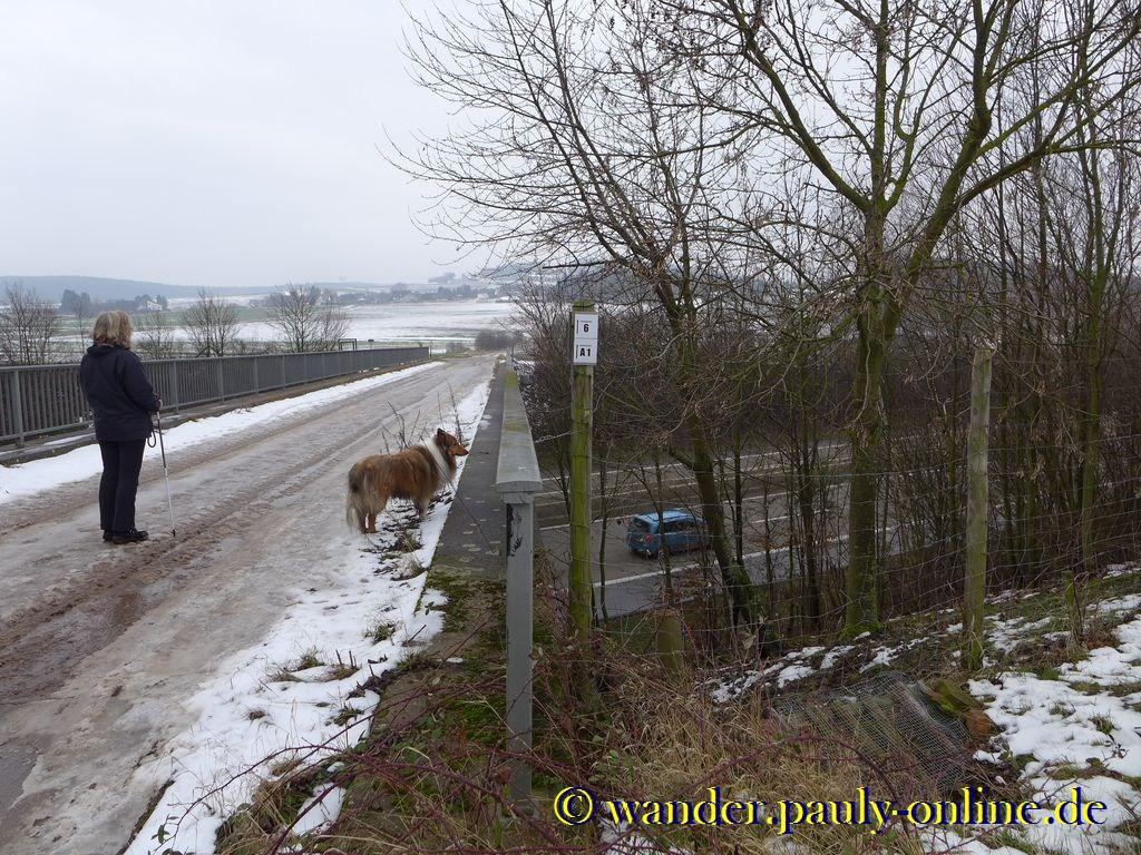 Überquerung der Autobahn A1