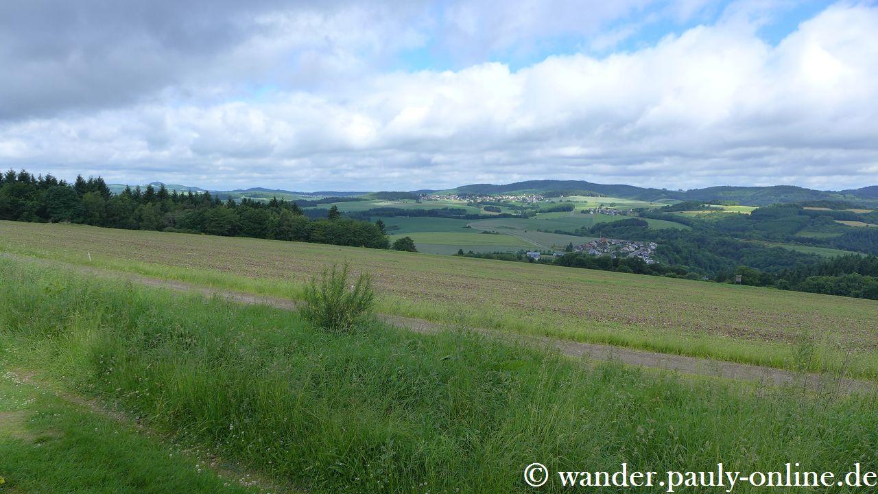 Traumpfad Virne-Burgweg - Blick vom Schafberg