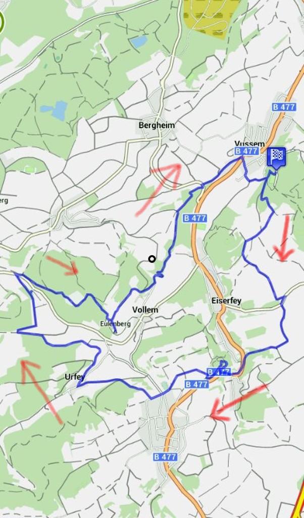 Spurensuche: Kakushöhle, Römerkanal und Steinkreuze - Karte