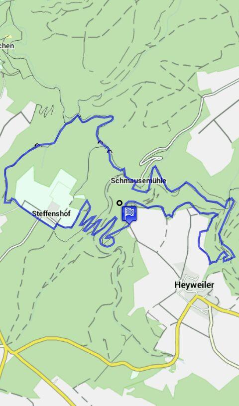 Karte Traumschleife Baybachklamm