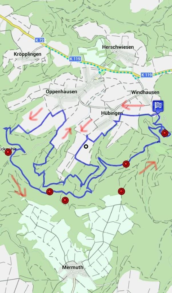 Karte Traumschleife Ehrbachklamm