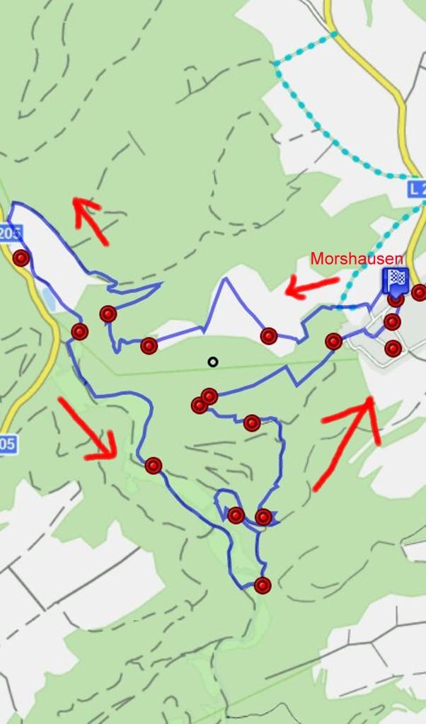 Karte Traumschleife Murscher Eselsche