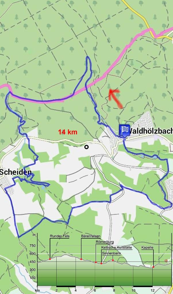 Traumschleife-Felsenweg_Karte